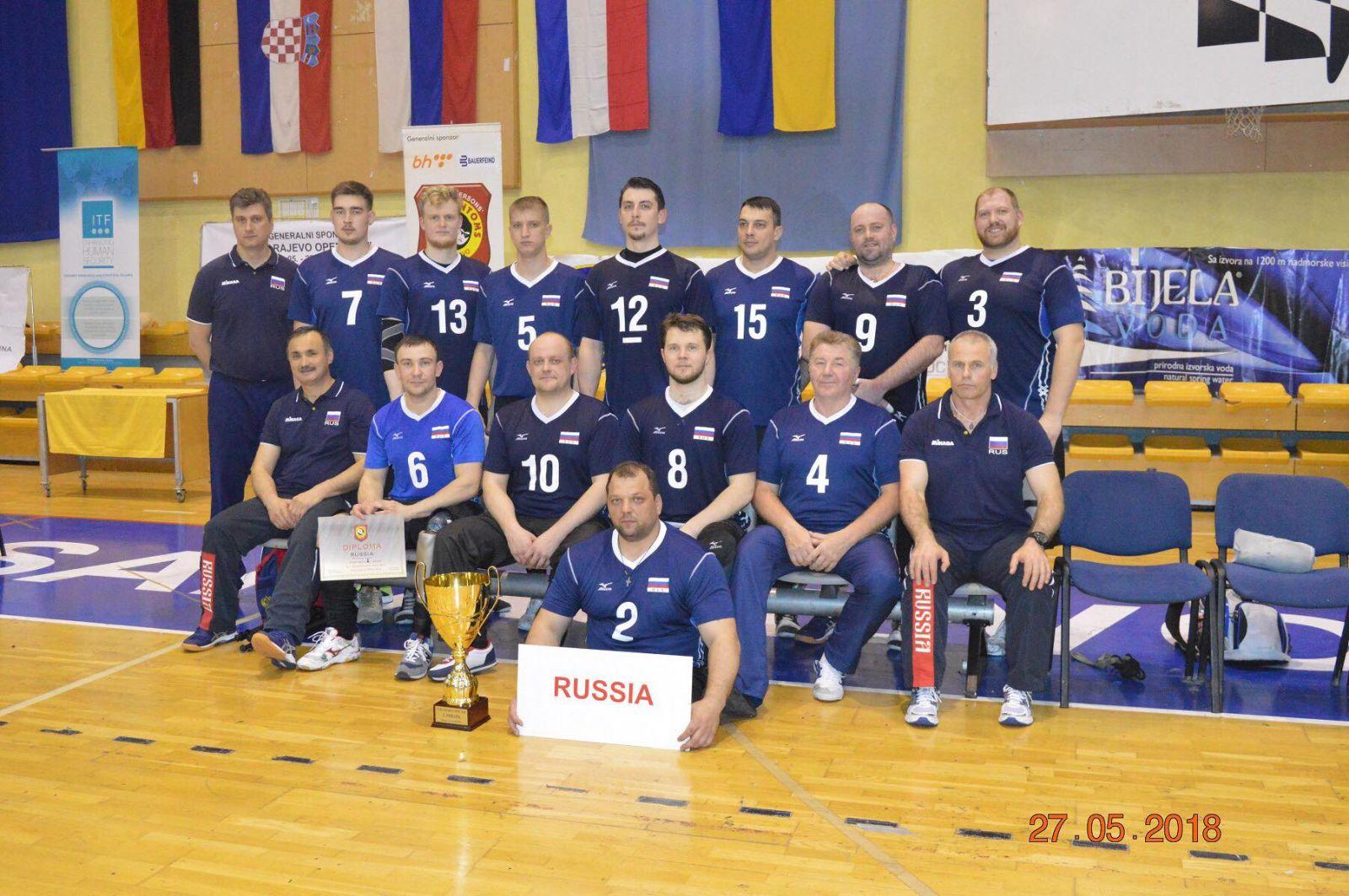 Мужская сборная команда России по волейболу сидя стала серебряным призером международного турнира Sarajevo Open 2018