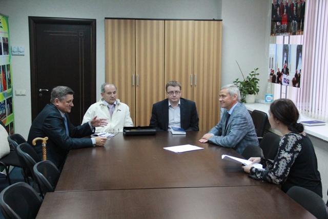 П.А. Рожков встретился  с президентом Паралимпийского комитета Республики Молдова  В.  Полкановым