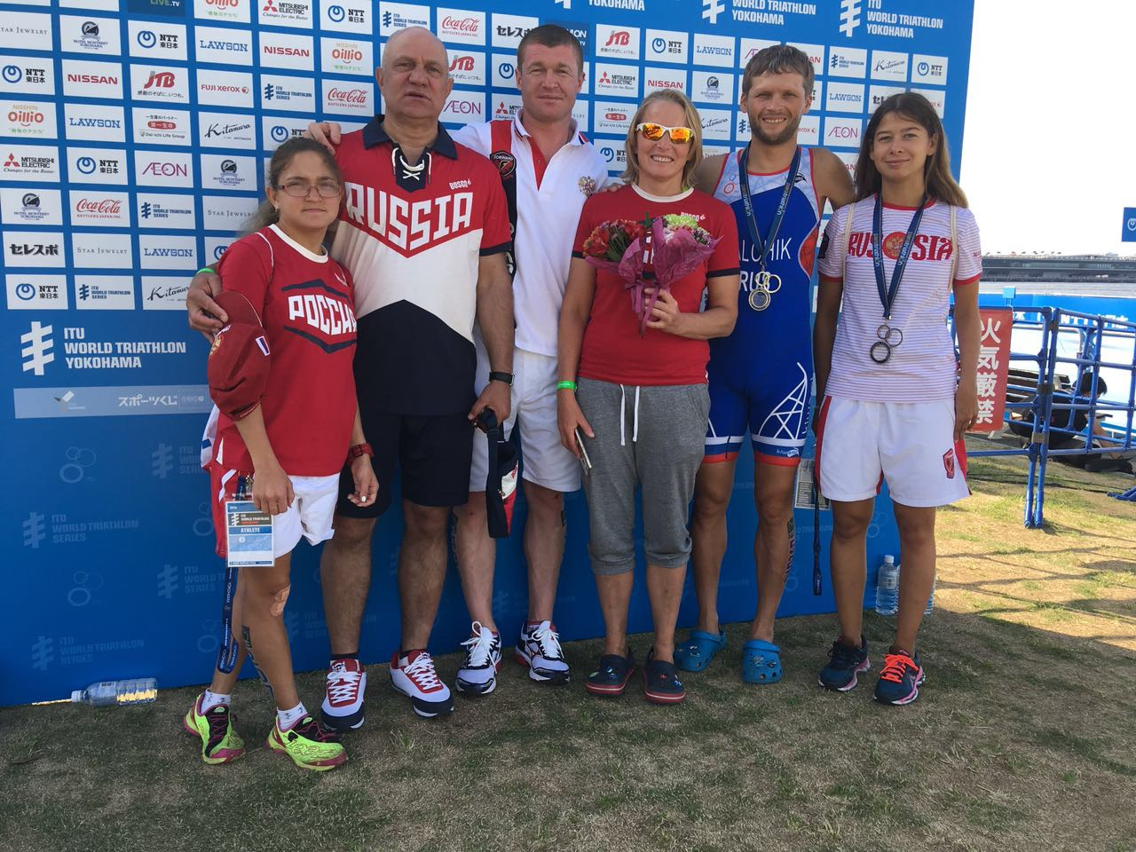 Анна Плотникова и Александр Ялчик завоевали серебряные медали на I этапе мировой серии по паратриатлону в Японии
