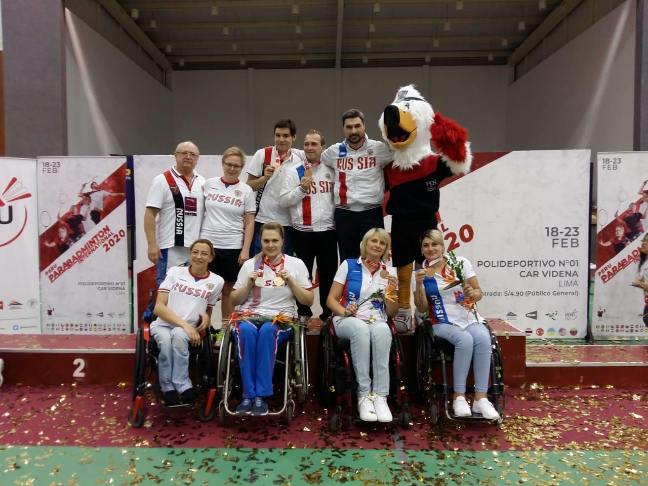 1 золотую, 1 серебряную и 2 бронзовые медали завоевала сборная России по бадминтону спорта лиц с ПОДА на международных соревнованиях в Перу