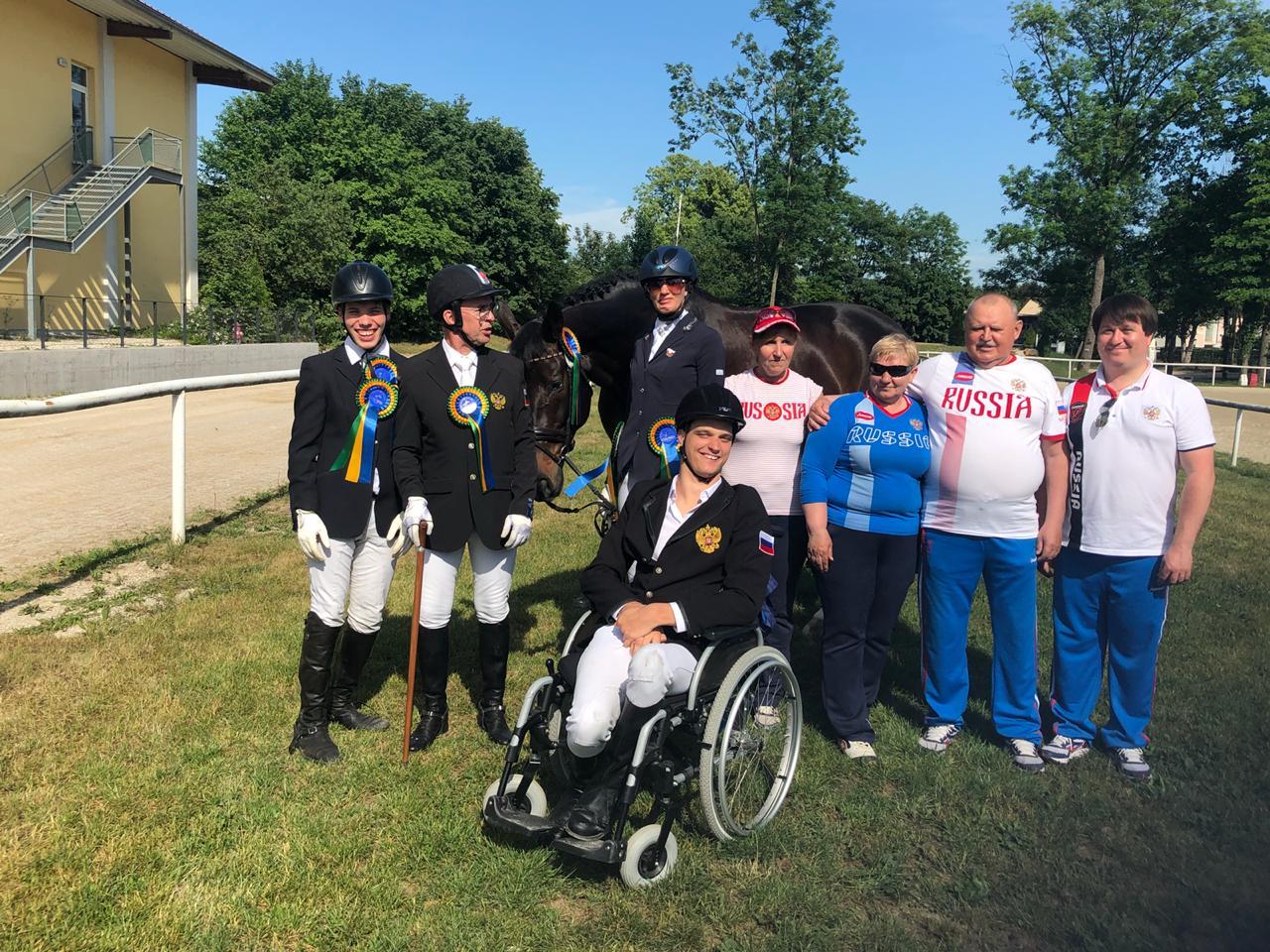 3 место в общекомандном зачете завоевала сборная России по конному спорту среди лиц с ПОДА на международных соревнованиях в Италии