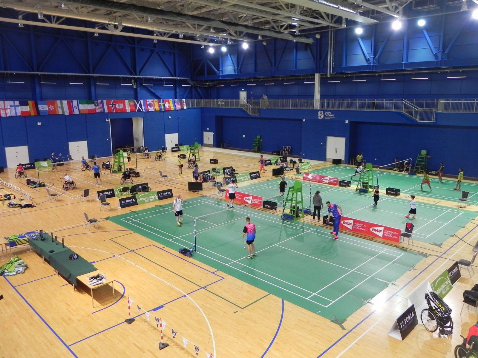 Сборная команда России по бадминтону спорта лиц с ПОДА ведет борьбу за медали международного турнира Irish Para-Badminton International 2018 в Ирландии