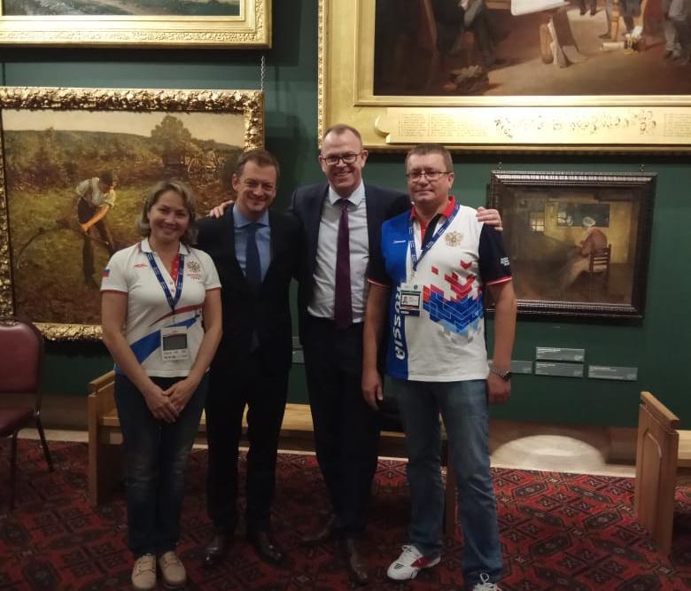 А.А. Строкин в г. Лондоне (Великобритания) в Мэрии Лондона принял участие в торжественном приеме в честь проведения чемпионата мира по плаванию МПК