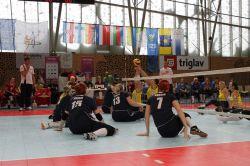 Российские волейболистки выиграли третий матч и встретятся с хорватками в четвертьфинале чемпионата Европы в Словении, квалификационного к Паралимпийским играм-2016