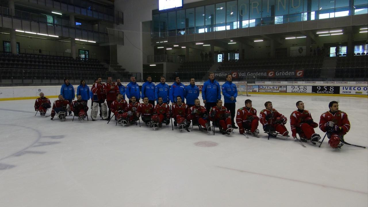 Сборная команда России по хоккею-следж завоевала первое место на международном турнире в Италии