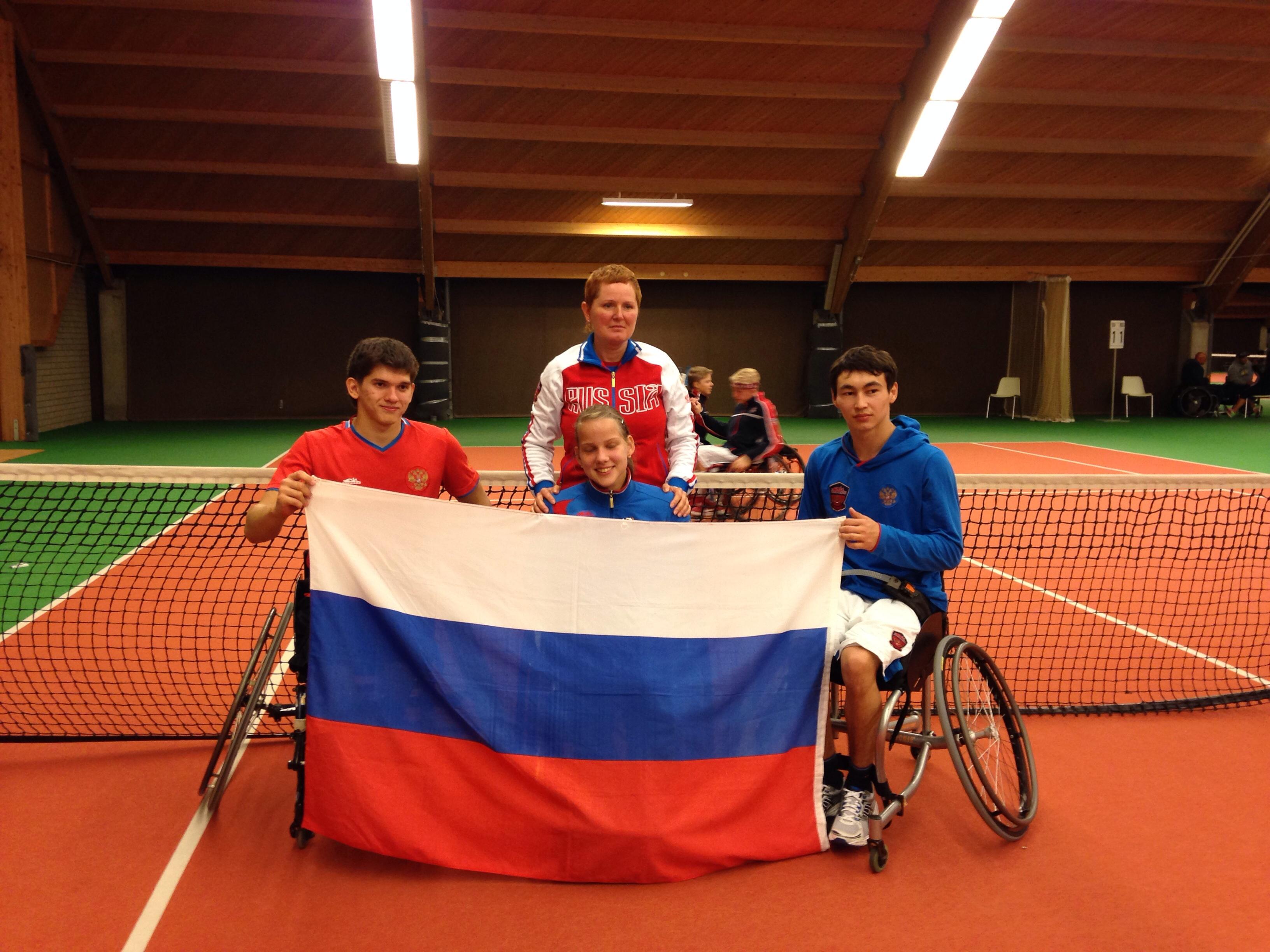Сборная команда России по теннису на колясках принимает участие в командном Кубке мира в Нидерландах