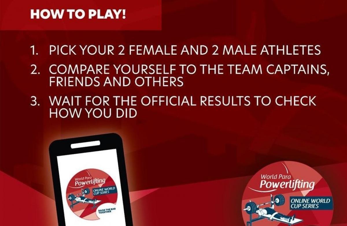 """Присоединяйтесь к онлайн-игре """"Fantasy Team"""" Всемирного пара пауэрлифтинга"""