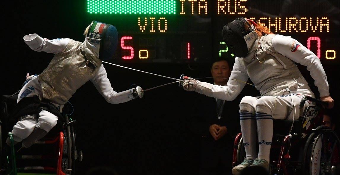 Сборная команда России по фехтованию на колясках завоевала 3 золотые, 2 серебряные и 9 бронзовых медалей по итогам трех дней чемпионата мира в Италии