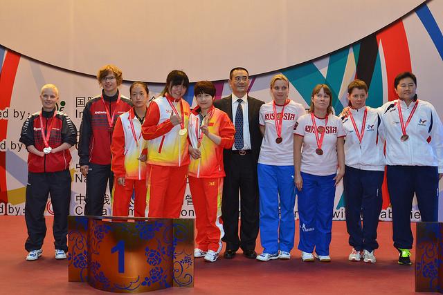 Сборная команда России по настольному теннису спорта лиц с ПОДА и спорта лиц с интеллектуальными нарушениями завоевала 1 золотую и 4 бронзовые медали на чемпионате мира в Китае