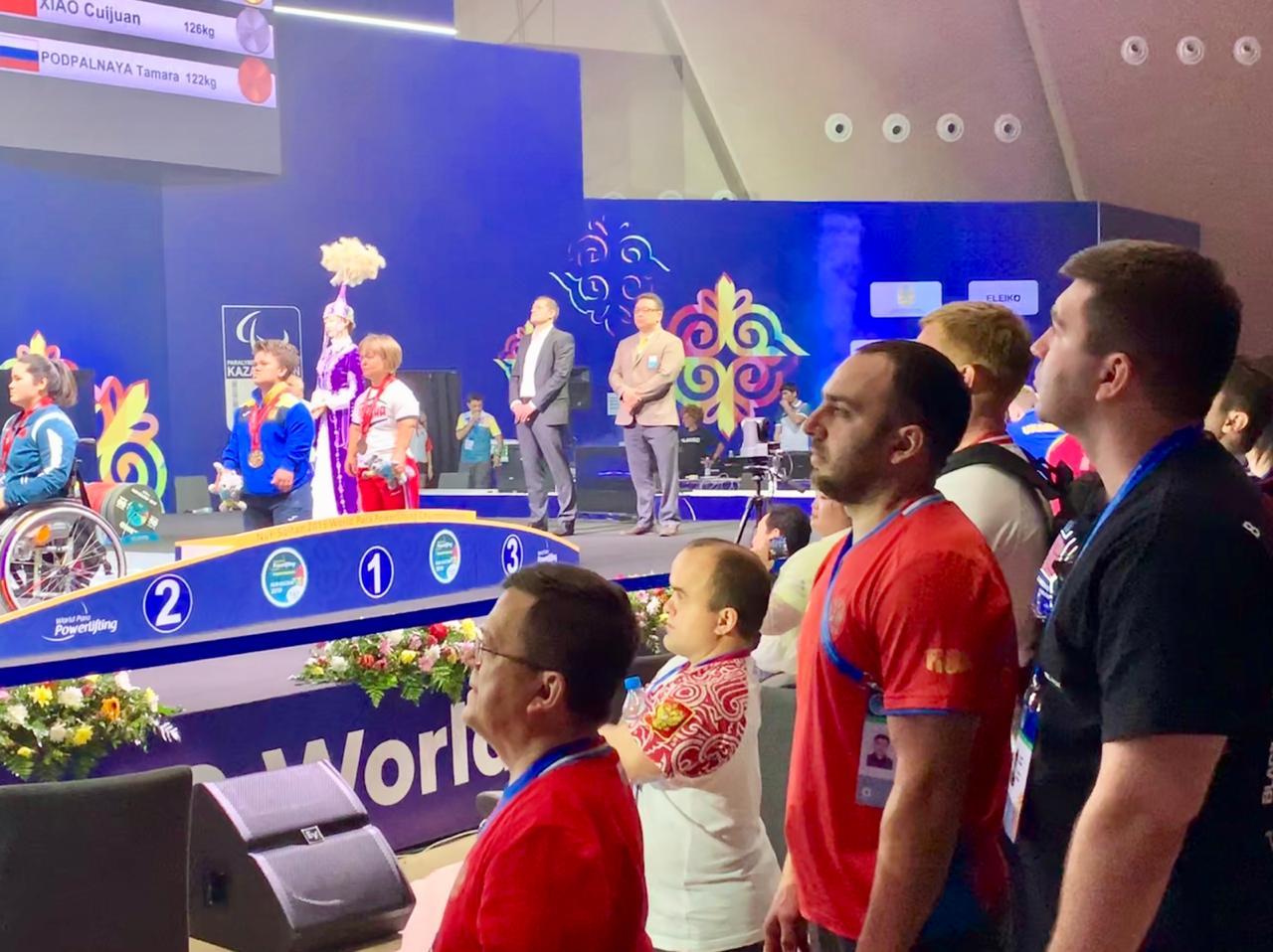 Тамара Подпальная завоевала бронзовую медаль в третий день чемпионата мира по пауэрлифтингу спорта лиц с ПОДА в Казахстане
