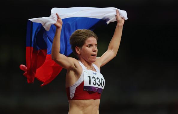 Российская атлетка Елена Паутова завоевала золотую медаль чемпионата мира по марафону в г. Лондоне (Великобритания)