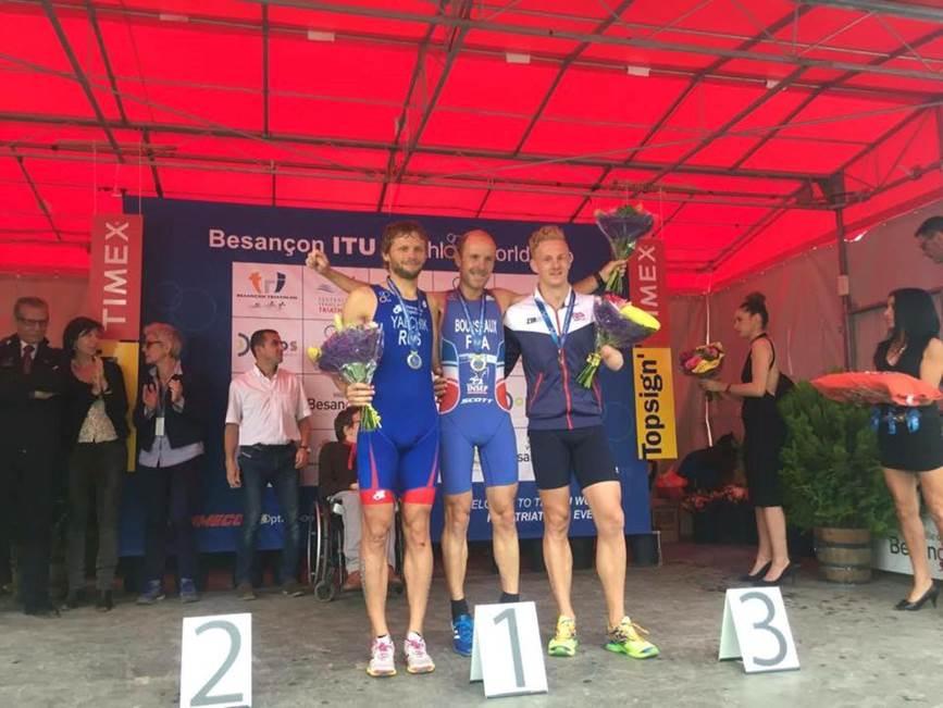 Российский паратриатлонист Александр Ялчик стал серебряным призером крупного турнира во Франции