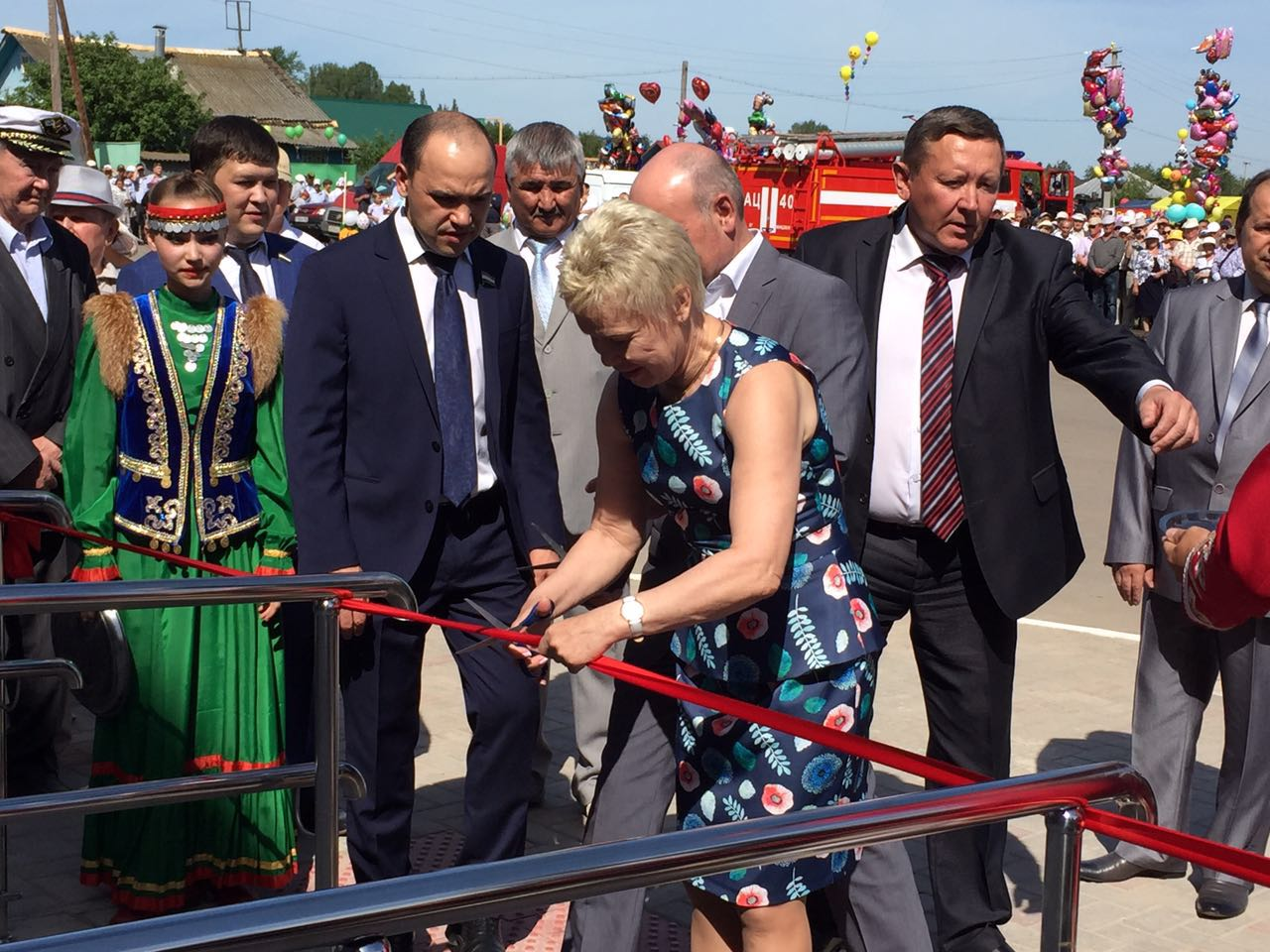 Р.А. Баталова в селе Мишкино (Республика Башкортостан) приняла участие в церемонии открытия Центра паралимпийского спорта