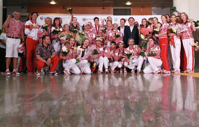 Л.Н. Селезнев принял участие в торжественной встрече   сборной команды России, вернувшейся  с ХХХ Олимпийских летних игр в Лондоне