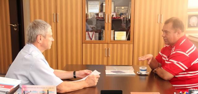 П.А. Рожков в офисе ПКР провел рабочую встречу с  руководителем регионального отделения ПКР в Тюменской области,  почетным вице - президентом ПКР А.В. Тарабыкиным по вопросам  развития паралимпийского движения в регионе,  проведения тренировочных мероприя