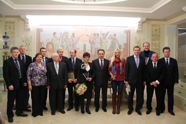 В.Л. Мутко, В.П. Лукин, И. А. Ананских  вручили  награды паралимпийцам