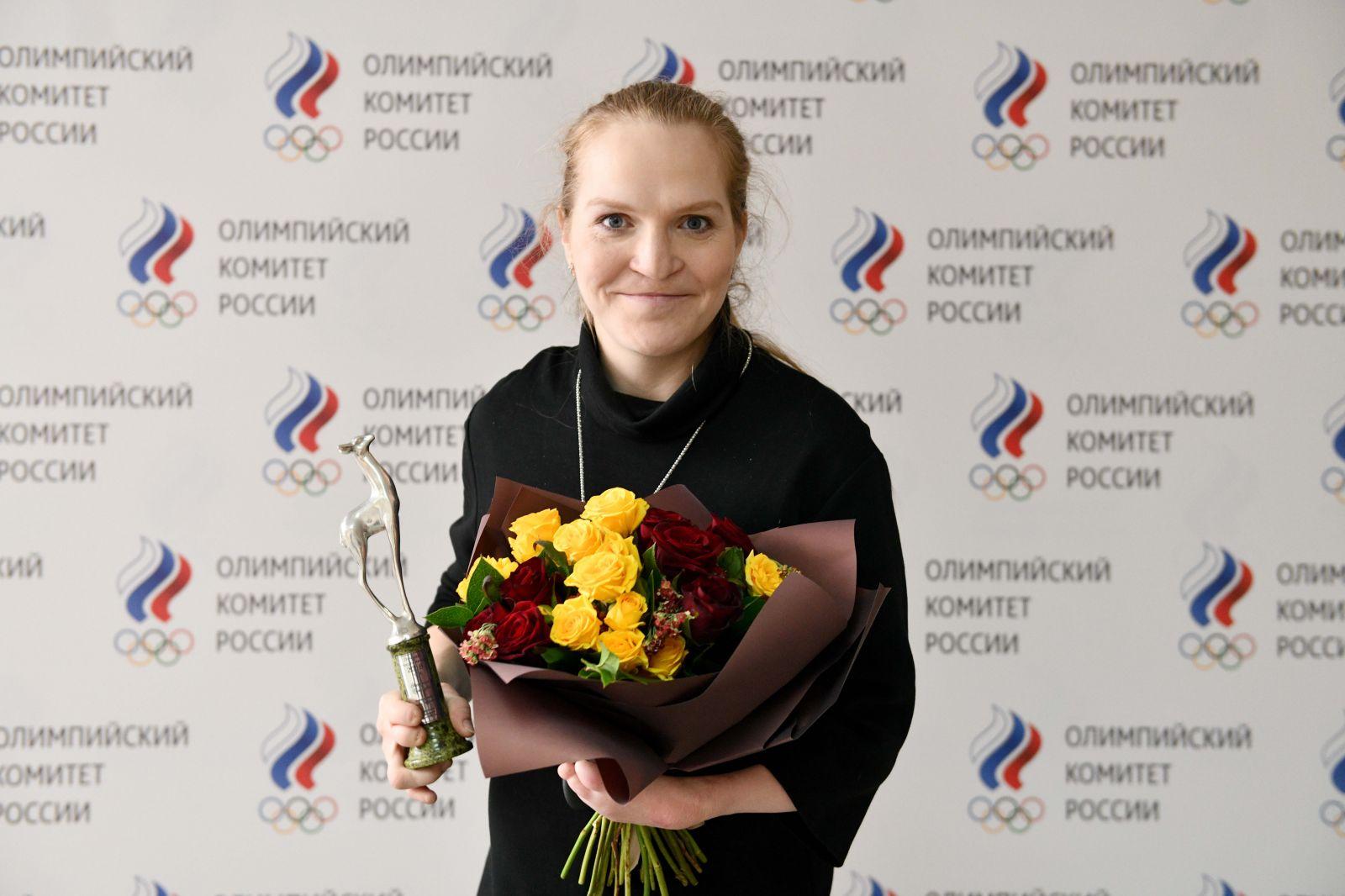 Екатерина Румянцева получила премию Федерации спортивных журналистов России «Серебряная лань»