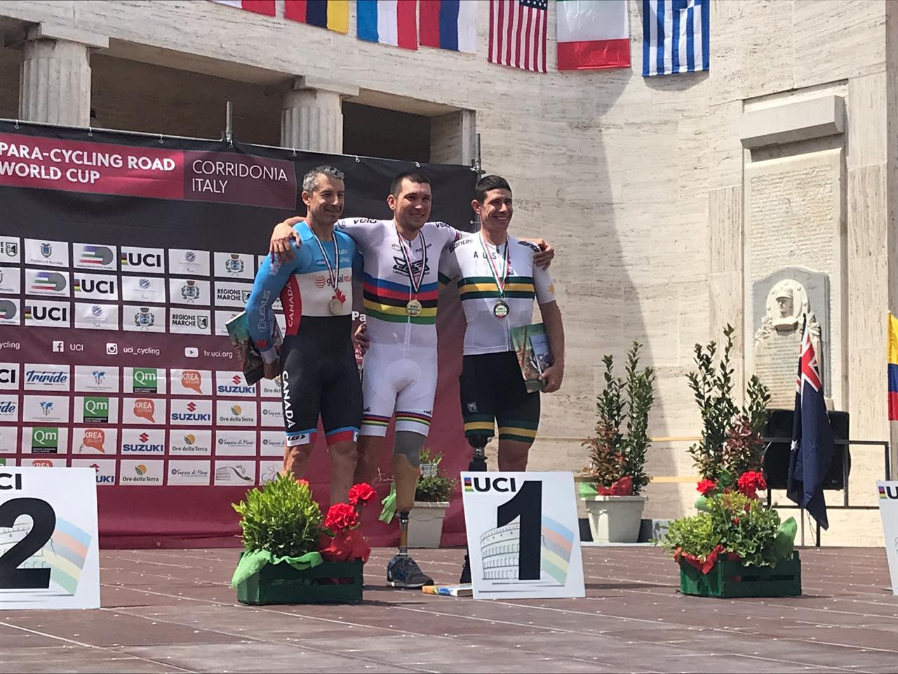 Сборная команда России по велоспорту лиц с ПОДА завоевала 3 золотые, 3 серебряные и 2 бронзовые награды на этапе Кубка мира в Италии