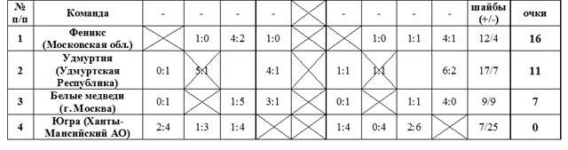 Чемпионат России (1 круг, спортивный сезон 2011/2012 гг.) по хоккею-следж с шайбой