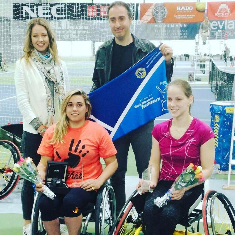 Виктория Львова завоевала серебряную медаль на международном турнире по теннису колясках