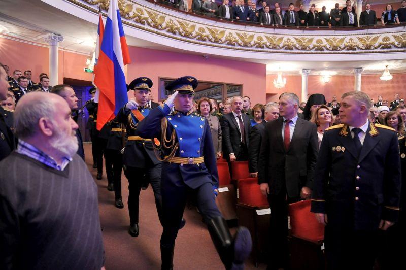 В.П. Лукин в г. Твери (Тверская область) принял участие в торжественном собрании, посвященном Дню защитника Отечества