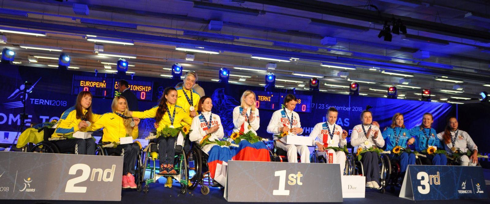 Сборная команда России по фехтованию на колясках завоевала 8 золотых, 3 серебряные и 9 бронзовых медалей чемпионата Европы в Италии