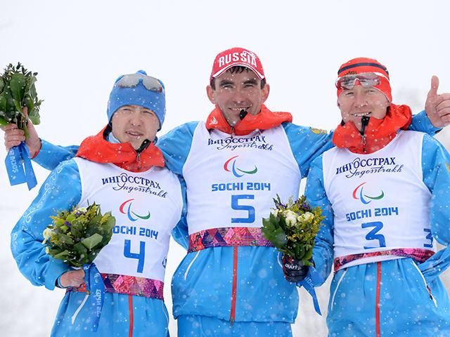 Российские лыжники завоевали золотую, серебряную и бронзовую медали в соревнованиях  по  лыжным гонкам  на дистанции 1 км свободным стилем