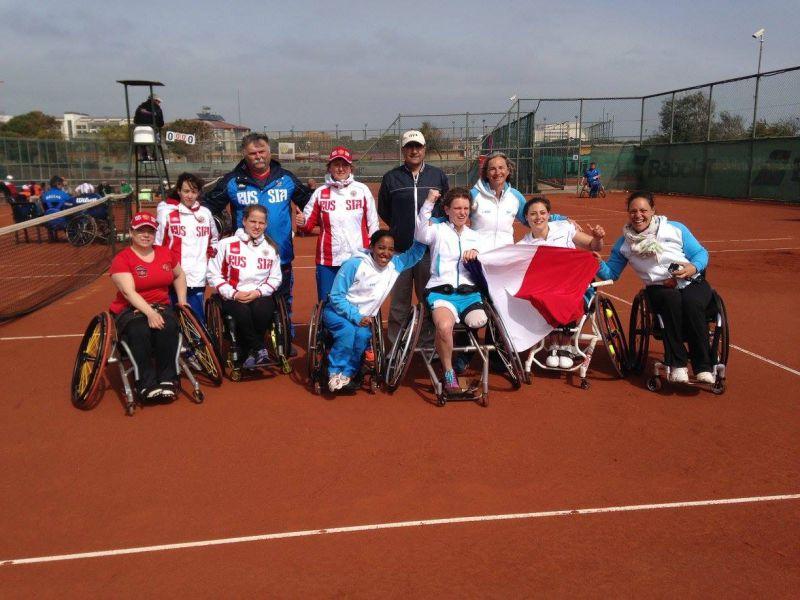 Женская сборная команда России по теннису на колясках заняла второе место на чемпионате Европы в Турции