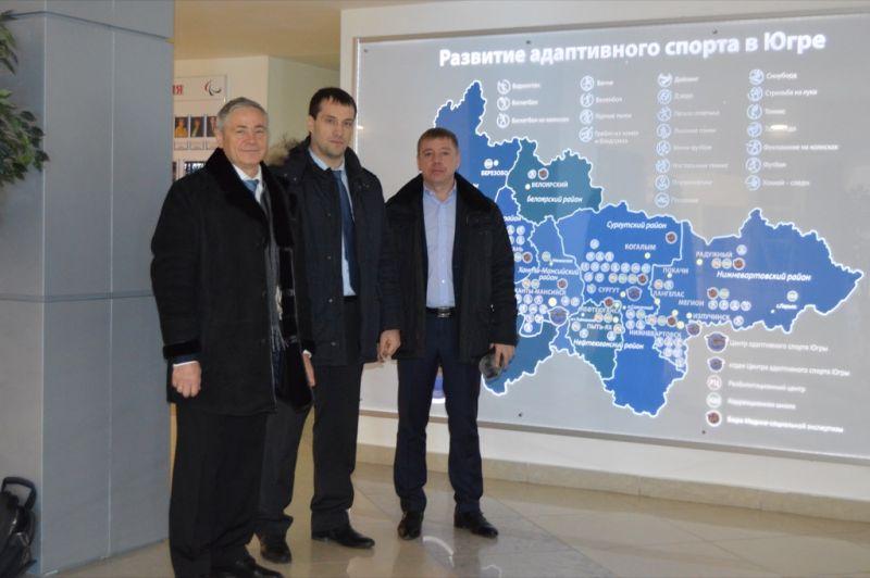 П.А. Рожков в г. Ханты-Мансийске посетил Центр адаптивного спорта Югры