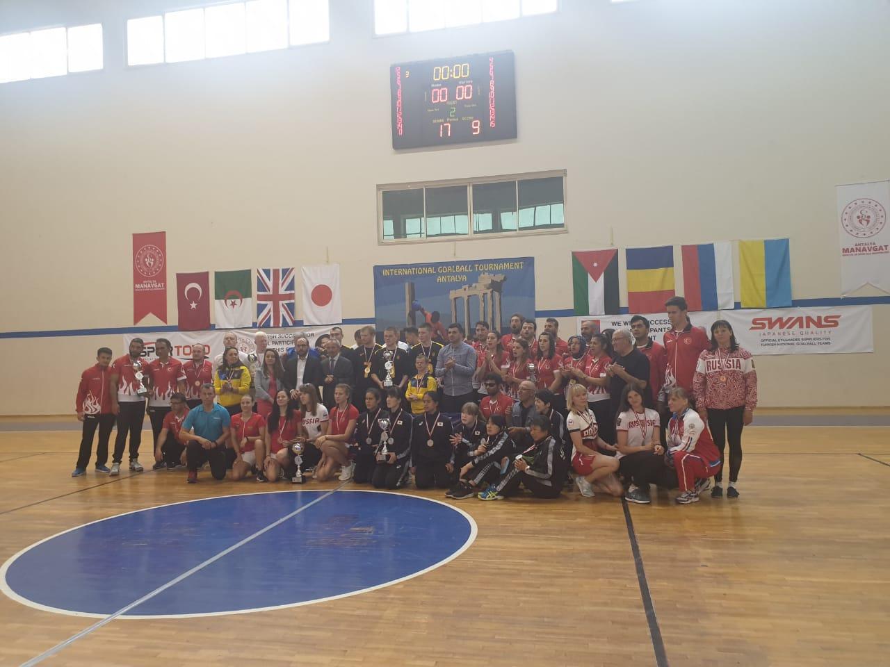 Российские спортсменки завоевали бронзовые медали на международных соревнованиях по голболу спорта слепых в Турции