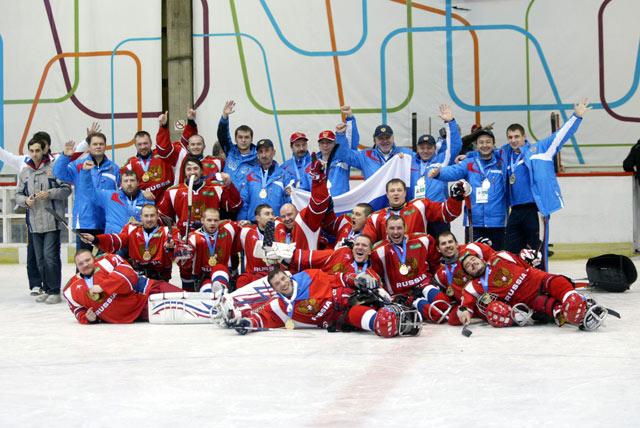 Сборная команда России по хоккею-следж cтала чемпионом мира в группе B