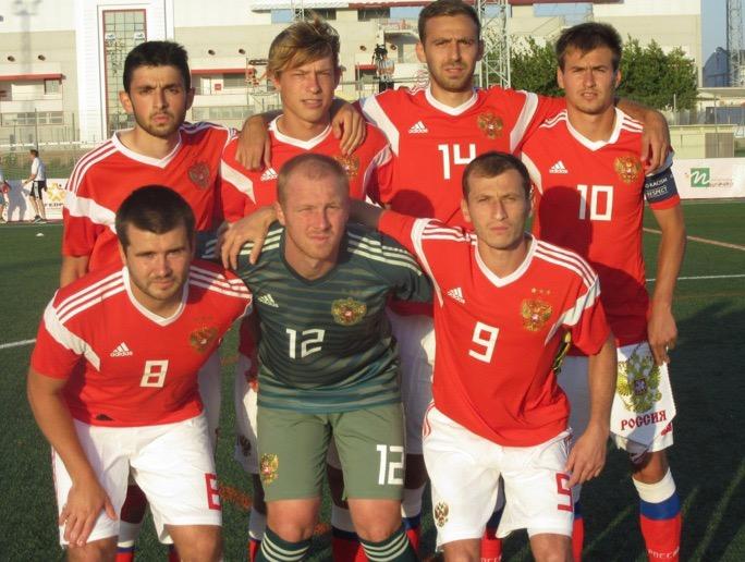 Сборная команда России по футболу лиц с ЦП вышла в полуфинал чемпионата мира
