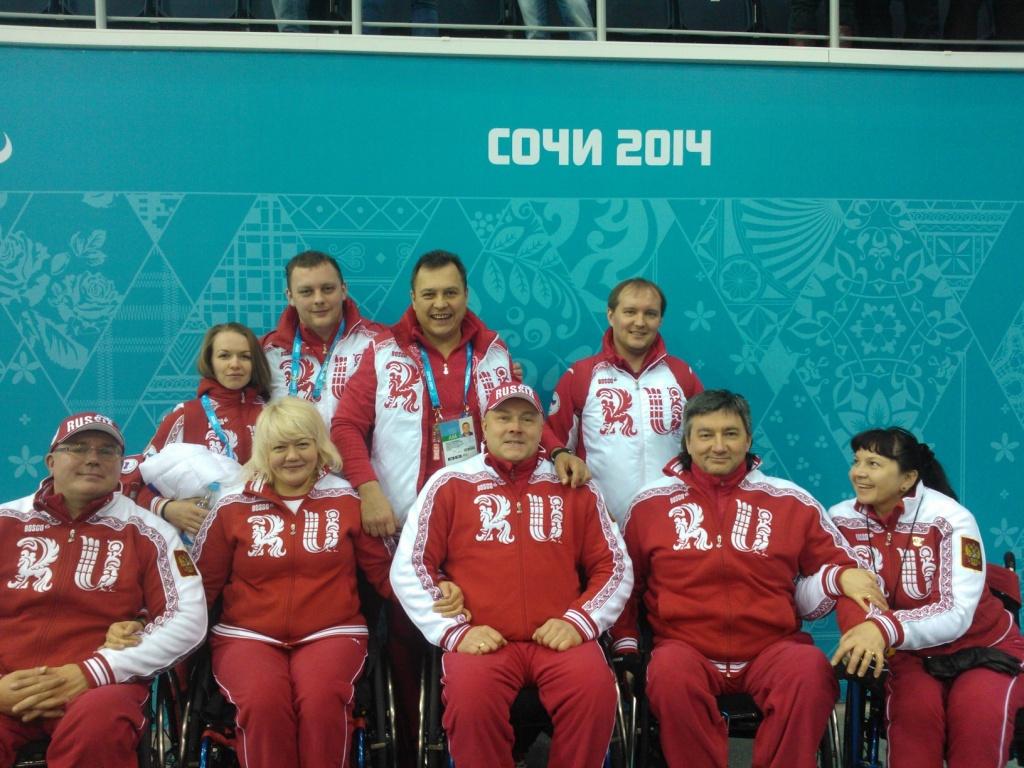 Сборная России по керлингу на колясках выиграла у сборной Великобритании со счетом 11:2 в круговом этапе (9 сессия)