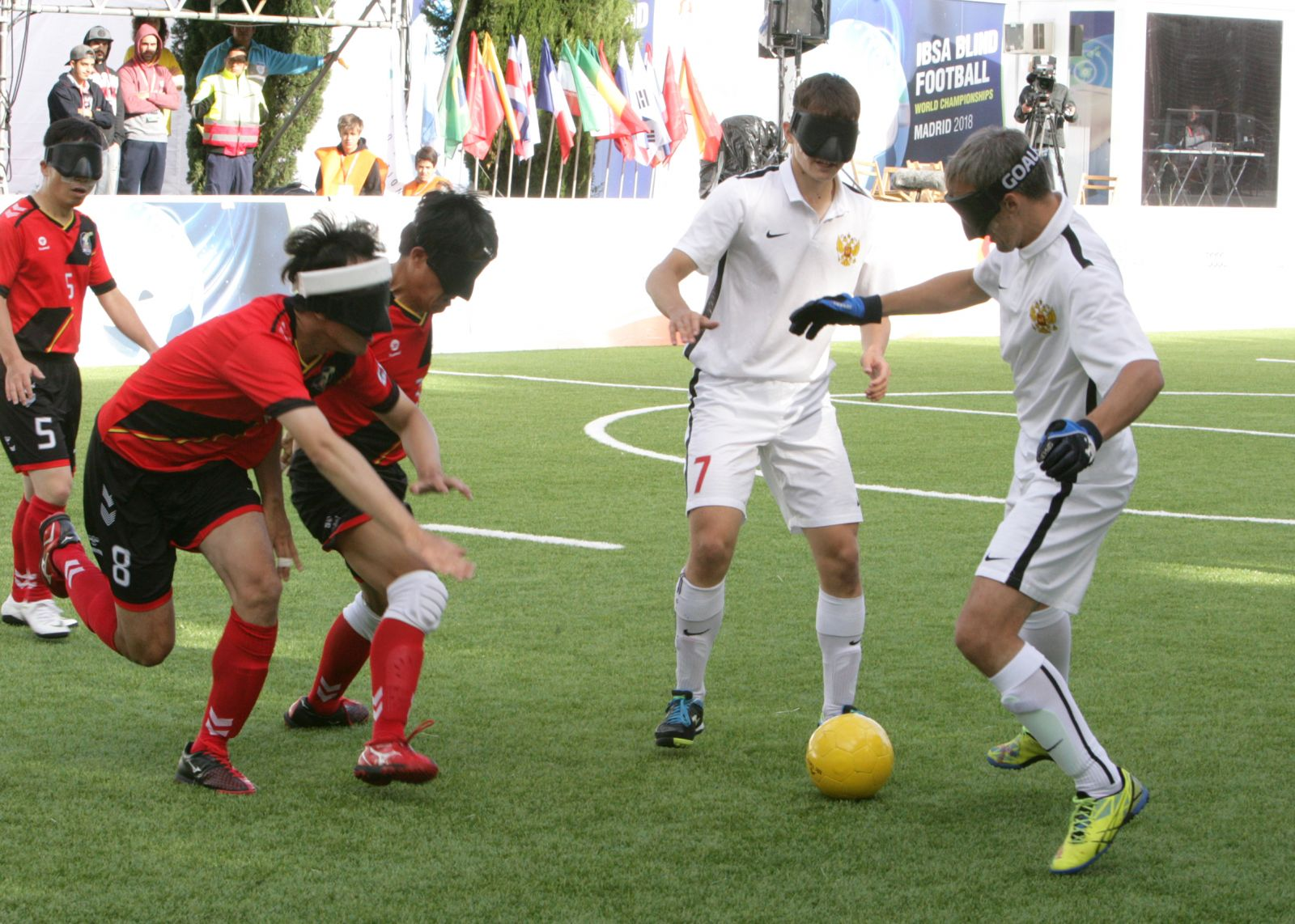 Сборная команда России по мини-футболу 5х5 класс В1 (тотально-слепые спортсмены) заняла 4 место на чемпионате мира в Испании