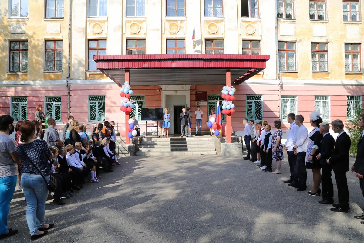 П.А. Рожков в г. Дзержинске (Нижегородская область) в Специальной коррекционной школе принял участие в торжественной линейке