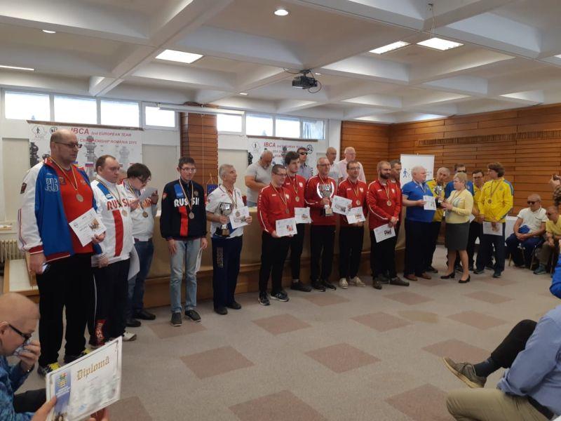 Сборная команда России заняла 2 место на чемпионате Европы по шахматам спорта слепых