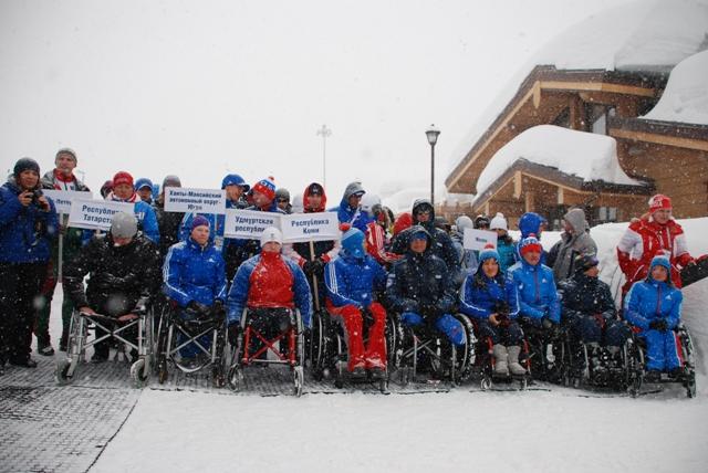 В г. Сочи состоялась официальная церемония открытия Чемпионата России по лыжным гонкам и биатлону среди спортсменов с поражением опорно-двигательного аппарата и нарушением зрения
