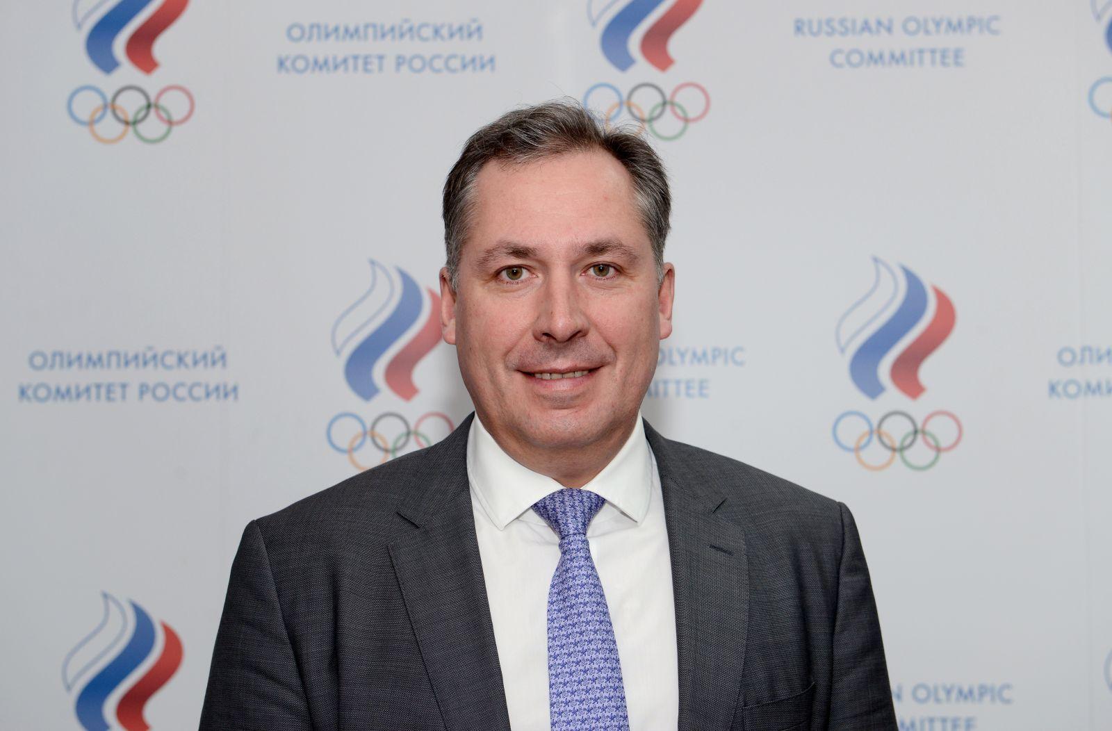 Президент ПКР В.П. Лукин поздравил С.А. Позднякова с избранием на должность президента Олимпийского комитета России