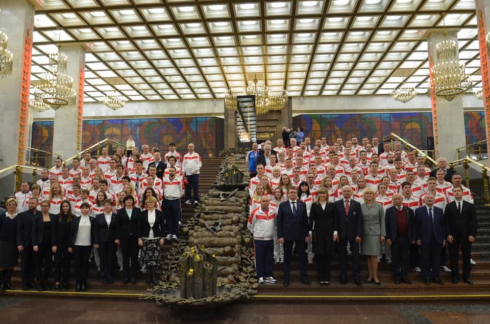 А.А. Строкин в г. Москве принял участие в церемонии торжественных проводов сборной команды России, отправляющейся на XIX зимние Сурдлимпийские игры в Италию