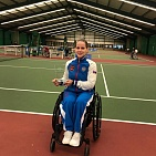 #trainingtogether with the European champion, repeated champion of the international competitions in Wheelchair Tennis Vicktoriya Lvova