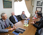 V.P. LUKIN AND P.A. ROZHKOV CONDUCTED A MEETING WITH THE PRESIDENT OF THE RUSSIAN ROWING FEDERATION A.V. SVIRIN