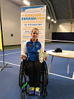 Russian Paralympic Athlete Victoria Lvova won two silver medals at the international wheelchair Tennis competitions in sweeden