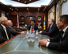 The Meeting of the Acting Head of the Republic of Kalmykia B.S. Khasikova with the executives of the RPC was held in Elista