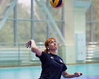 #trainingtogether with the World Champion in Sitting Volleyball Tatyana Okorokova