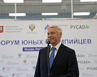 Pavel Rozhkov at the International Children's Day in the Sports Technology Center of the Moskomsport participated in the Forum of Young Olympians