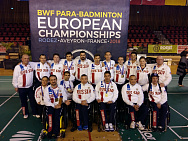 The Russian National team in para badminton won one silver and seven bronze medals during the European Championship for persons with physical impairments in France.