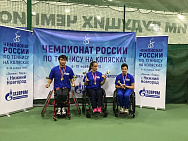 Victoria Lvova and Ildus Shaikhilsmanov become absolute champions at the Russian National Tennis on the Wheelchair Championship.