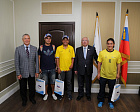 V.P. LUKIN AND P.A. ROZHKOV MET AT THE OFFICES OF RPC WITH ATHLETES AND TRAINERS OF COLOMBIAN NATIONAL FOOTBALL TEAMS FOR PERSONS WITH CEREBRAL PALSY AND VISUAL IMPAIRMENT