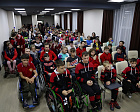 ON THE EVE PF THE INTERNATIONAL DECADE FPR PERSOND WITH DISABILITIES THE RUSSIAN PARALYMPIC COMMITTEE HOLD THE PARALYMPIC LESSON FOR PARTICIPANTS OF THR  II FESTIVAL OF THE CHILDREN OF SLEDGE HOCKEY LEAGUE AND DISABLED CHILDREN OF CORRECTIONAL SCHOOLS IN