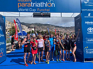 The Russian National Para Triathlon Team won 1 gold and 3 silver medals at the World Cup in Portugal.